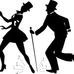 tap dance silhouette top hats